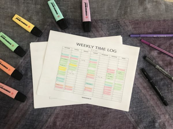 weekly time log