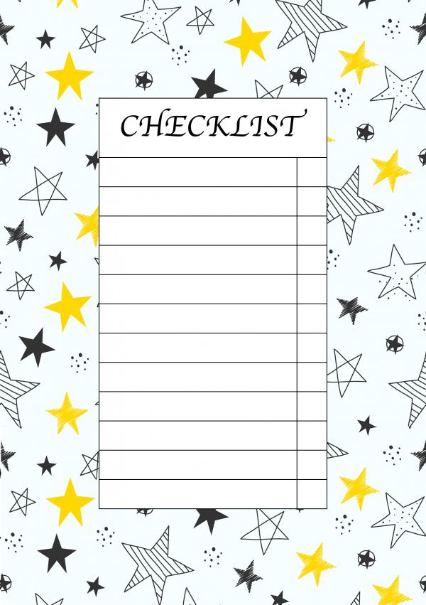 چک لیست ساده بولت ژورنال